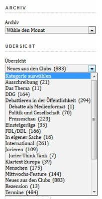 Neue Archiv-Kategorien