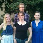 V.l.n.r.: Julia Engel, Bente Brodersen, Jonas Weik, Alena Haub - ©Willy Witthaut