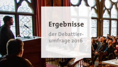 Logo Debattierumfrage Ergebnisse