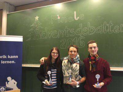 Rederei Heidelberg gewinnt die Jenaer Adventsdebatten 2016