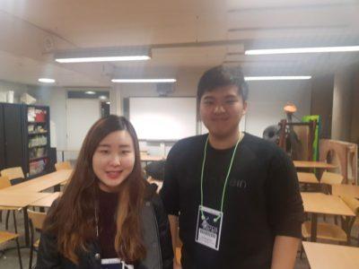 Minji Kim (left) and Do Hyung Shin - © Helena Hecke