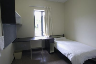 For accomodation there are single rooms at the campus. - © UCT