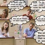 Fiktive Gedanken von Juroren - © Florian Umscheid, Bearbeitung Jule Biefeld