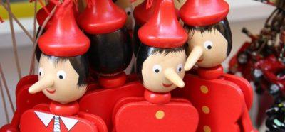 Lügen auch gerne: Pinocchios - Quelle: pixabay.com