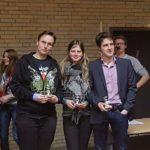 Das Siegerteam: Philipp Schmidtke, Johanna von Engelhardt, Christoph Saß - © Alexander Osterkorn