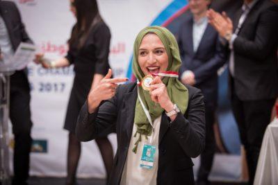Best speaker of the Arabic track Abir Mejrouh - © YAV