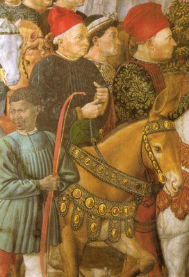 Cosimo auf einem Fresko von Benozzo Gozzoli in der Kapelle des Medici-Palastes, Florenz - Quelle: Wikipedia