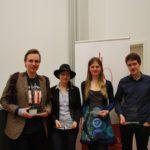 V.l.n.r.: Philipp Schmidtke, Marion Seiche, Johanna von Engelhardt, Christoph Saß - © Fiona Hollmann