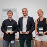 Meister 2017: Julius Steen, Peter Giertzuch, Sabrina Effenberger - © Dresden Debating Union