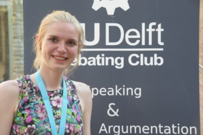 Lana Moss, best Novice Speaker at the Delft Open 2017 - © Helena Hecke