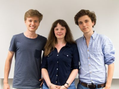Der neue Vorstand des DCH: Pascal Beleiu, Lisa Weck und Samuel Gall - © Debating Club Heidelberg e.V.