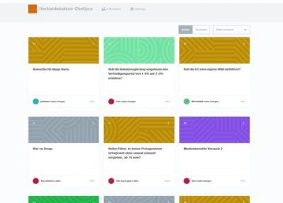 Casefiles anzulegen ist oftmals eine langwierige Angelegenheit, bei der auch viele Ideen verworfen werden. Interfaces wie Kialo helfen bei der Erstellung - © Lennart Lokstein