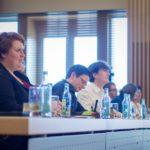 Ausschnitt der Finaljury der DDM 2017 in Dresden, v.l.n.r.: Jule Biefeld, Alexander Labinsky, Lennart Lokstein - © Severin Wünsch