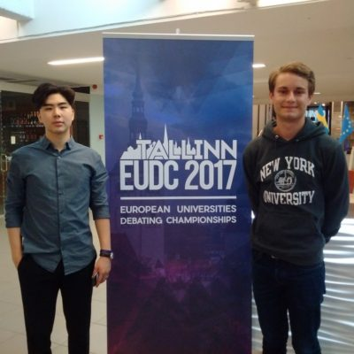 Nicolaj Thor and David Kim from NYU Abu Dhabi - © Jan-Gunther Gosselke