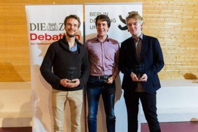 V.l.n.r.: Nikos Bosse, Christoph Saß, Anton Leicht - (c) Matthias Carcasona