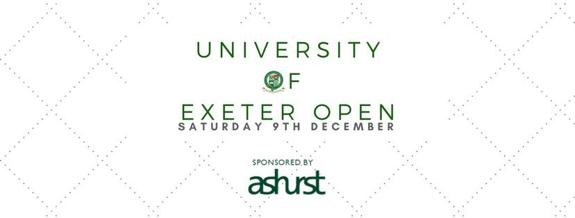 University of Exeter Open 2017