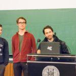Die Chefjury des Schwarzwaldcups 2017: Marius Hobbhahn, Samuel Scheuer, Jannis Limperg (v.l.n.r.) - © Debattierclub Freiburg