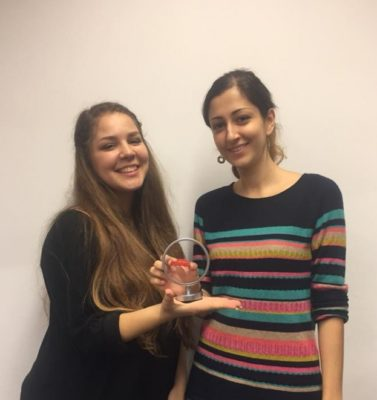 The winners of the Barc College Berlin Pro/Am: Konstantina Nathanail and Pegah Maham