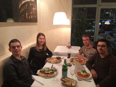 V.l.n.r.: Jonathan Dollinger, Vanessa Brysch, Alexander Ropertz und Andrey Belkin