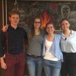 V.l.n.r.: Brian Ortmann, Anthea Waldmann, Magdalena Bohrer, Laura Soldner - © Melanie Hauser