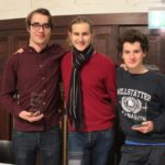 V.l.n.r.: Samuel Scheuer, Jan Ehlert und Marius Hobbhahn - © Debattierclub Hamburg e.V.