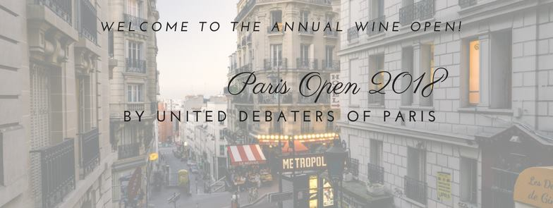 Paris Open 2018 (c) United Debaters of Paris