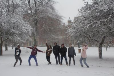 Several participants enjoying the snow! © Tom Davies (Instagram @tomdgriff)