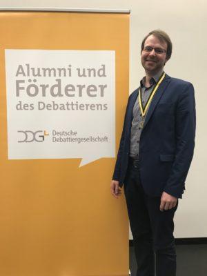 Marcel Giersdorf als bester Redner des Finals - © Tina Reimann