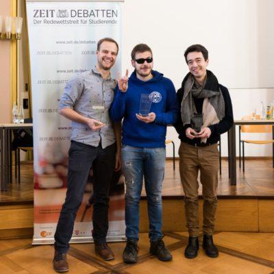 Berlin Debating Union gewinnt die ZEIT DEBATTE Münster 2018