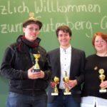 Meister der Späße: Philipp Schmidtke, Christoph Saß und Jule Biefeld - © Alexander Reidel