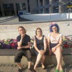 Der neue Vorstand: Torsten Fleischmann, Ramona Künzel und Maria Hirsch - © Debattiergesellschaft Jena