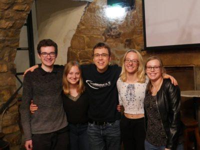 V.l.n.r.: Justus Raimann, Franziska Reichmuth, Sven Jentzsch, Chiara Throner, Anthea Waldmann - © Streitkultur e.V.