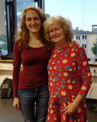 Die Gewinner des Familenturniers: Katrin Fallmann und Franziska Fallmann (v.l.n.r.)