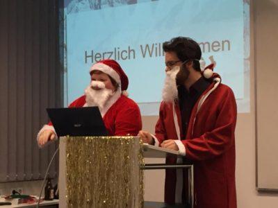Julian Vaterrodt und ich bei den Weihnachtsdebatten im Club ©BDS