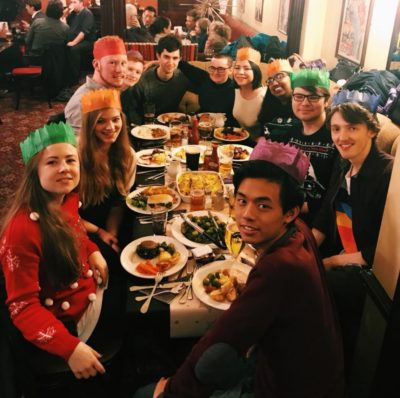 The Sheffield Debating Society at their Christmas meal - © private