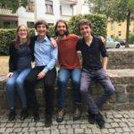 V.l.n.r.: Sabine Wilke, Lennart Lokstein, Ruben Herrmann, Samuel Gall - © VDCH