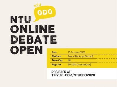 "Team ""Karasuno High"" wins NTU Online Debate Open 2020"